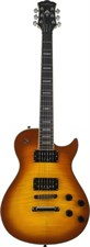 Washburn WINDLX-FTSB Single Cut Flame Tobacco SB Electric Guitar